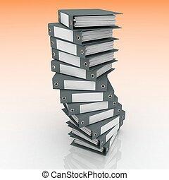 mappar, framförande, papers., 3