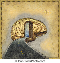 Mapping the Mind - Road map to the brain - 3d renders and...