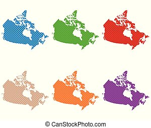 Maps of Canada coarse meshed