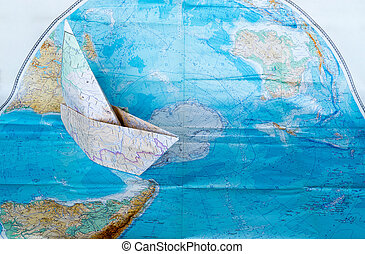Maps on white background