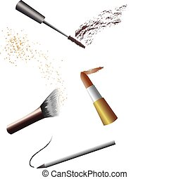 maquiagem, ferramentas