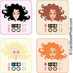 maquiagem, para, mulheres