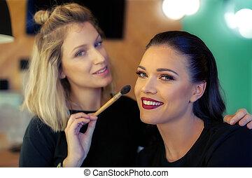 maquillador, ser aplicable, blusher