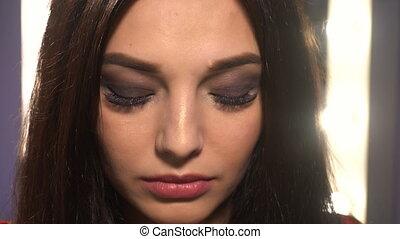 maquillage, femme, beauté, portrait