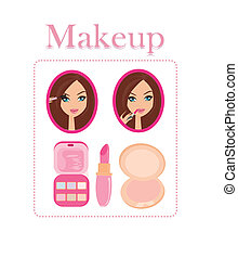maquillage, girl