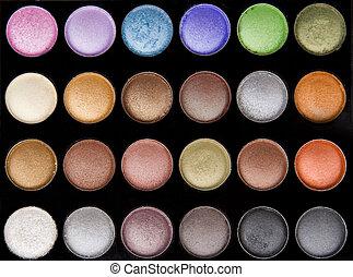 maquillage, oeil, vif, coloré