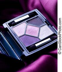 maquillage, professionnel, ombre, oeil, closeup.