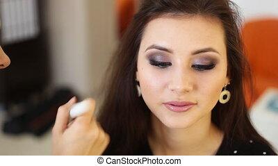 maquillage, travail, artiste