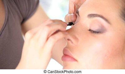 maquillage, visage femme