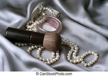 maquillaje, accesorios, make-up.