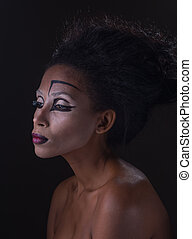 maquillaje, african - american, mujeres