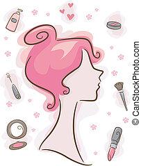 maquillaje, elementos