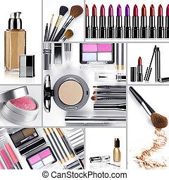 maquillaje, mezcla