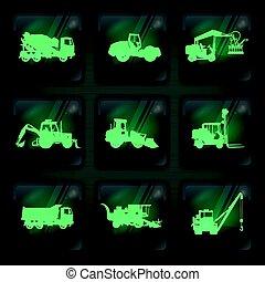 maquinaria agrícola, ícones