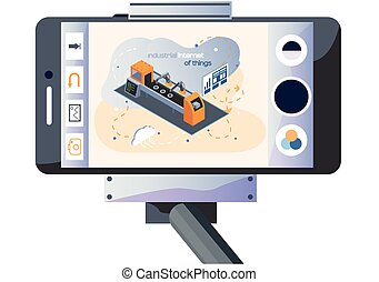maquinaria, autónomo, smartphone, producción, trípode, imagen, topic, brazo, robótico