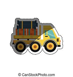 maquinaria construção, veículo