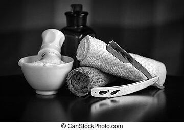 maquinilla de afeitar, accesorios, viruta