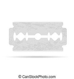 maquinilla de afeitar, blade., vector, ilustración
