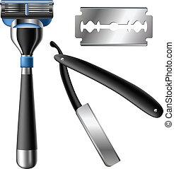 maquinilla de afeitar, conjunto