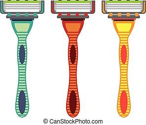 maquinilla de afeitar, vector