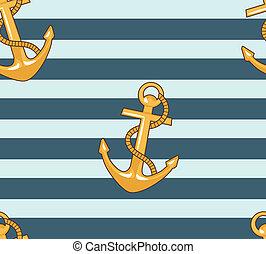mar, âncora, padrão