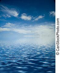 mar, amanhecer, sobre
