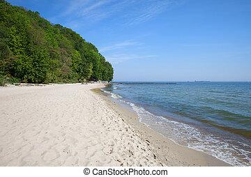 mar báltico, praia, em, gdynia