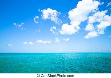 mar, céu