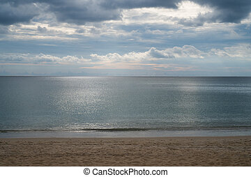 mar, céu, nublado, tropicais, dramático, fundo