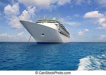 mar caribe, crucero, cozumel, ancla, barco
