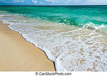 mar caribe, vista