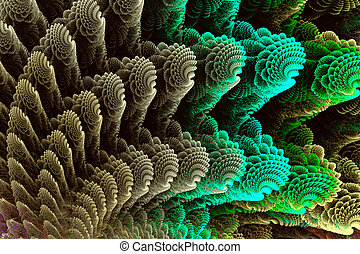 mar, coloridos, abstratos, imagem, fractal, shells.
