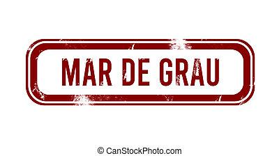 Mar de Grau - red grunge button, stamp
