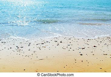 mar, e, praia, natureza, viagem, lugar
