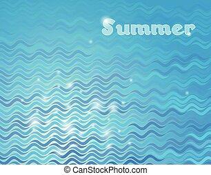mar, fundo, ondas