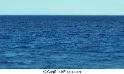 mar, horizonte, movimento lento