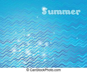 mar, ondas, fundo