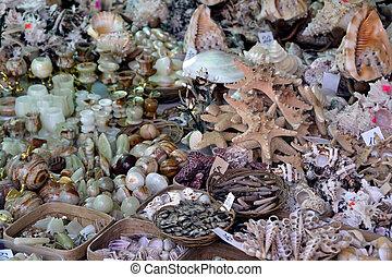 mar, ornamentos