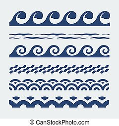 mar, padrões onda