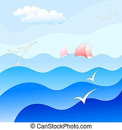 mar, plano de fondo