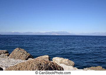 mar, rocas