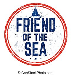 mar, sinal, ou, selo, amigo