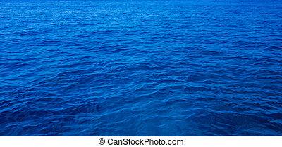 mar, superfície, com, ondas