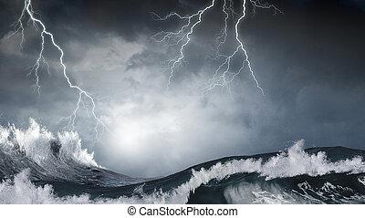 mar tempestuoso, tiempo