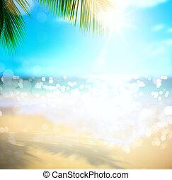 mar, verão, vacation;, praia tropical, fundo