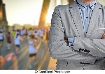 mara, ビジネス エグゼクティブ, マネージャー, 背景, スポーツ, 人