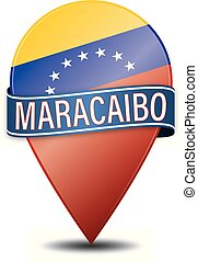 MARACAIBO VENEZUELA glossy web pin