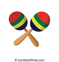 Maracas icon, cartoon style