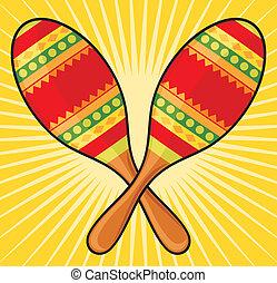 maracas instrument, colorful mexican maracas
