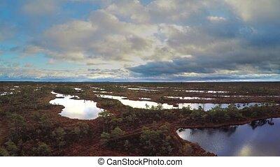 marais, lettonie, paysage, kemeri